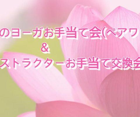 7/27(土)和みのお手当て会&インストラクターお手当て交換会